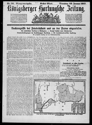 Königsberger Hartungsche Zeitung vom 23.01.1917