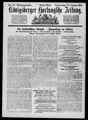 Königsberger Hartungsche Zeitung vom 25.01.1917