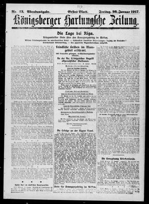 Königsberger Hartungsche Zeitung vom 26.01.1917