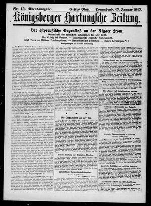 Königsberger Hartungsche Zeitung vom 27.01.1917