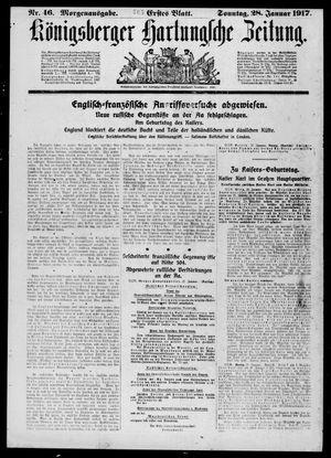 Königsberger Hartungsche Zeitung vom 28.01.1917