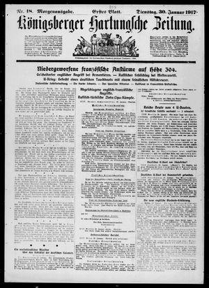Königsberger Hartungsche Zeitung vom 30.01.1917