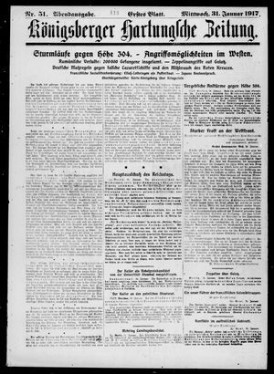 Königsberger Hartungsche Zeitung vom 31.01.1917