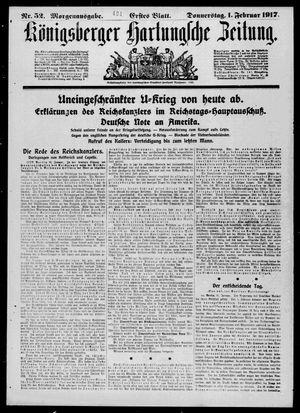 Königsberger Hartungsche Zeitung vom 01.02.1917