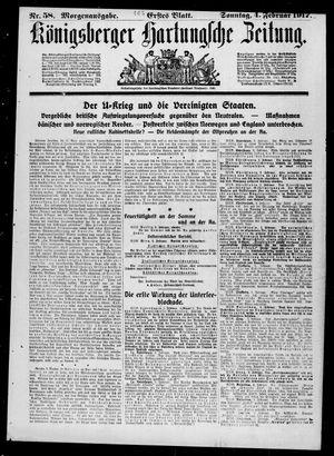 Königsberger Hartungsche Zeitung vom 04.02.1917