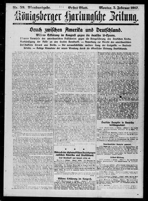 Königsberger Hartungsche Zeitung vom 05.02.1917