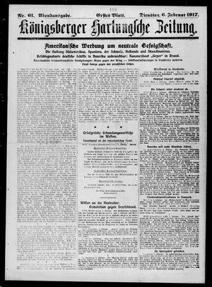 Königsberger Hartungsche Zeitung vom 06.02.1917
