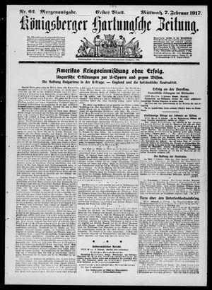 Königsberger Hartungsche Zeitung vom 07.02.1917