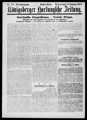 Königsberger Hartungsche Zeitung on Feb 8, 1917