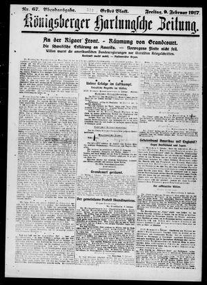 Königsberger Hartungsche Zeitung vom 09.02.1917