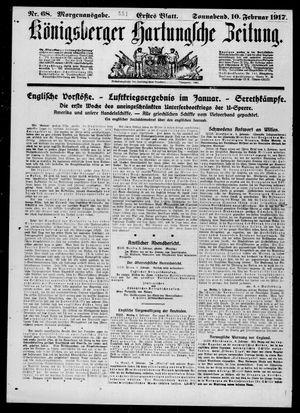Königsberger Hartungsche Zeitung on Feb 10, 1917