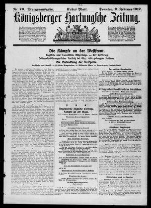 Königsberger Hartungsche Zeitung vom 11.02.1917