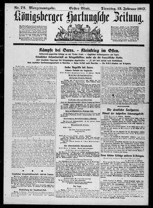 Königsberger Hartungsche Zeitung vom 13.02.1917