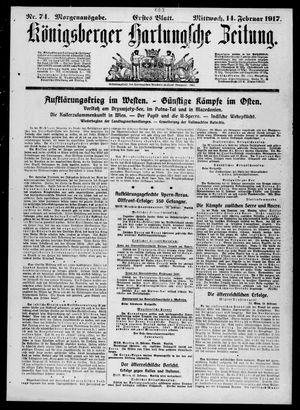 Königsberger Hartungsche Zeitung vom 14.02.1917