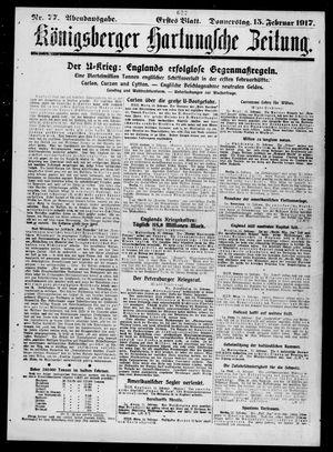 Königsberger Hartungsche Zeitung vom 15.02.1917