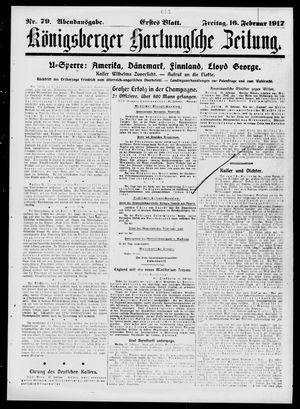 Königsberger Hartungsche Zeitung on Feb 16, 1917
