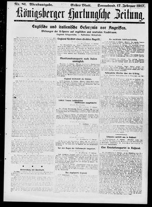 Königsberger Hartungsche Zeitung vom 17.02.1917