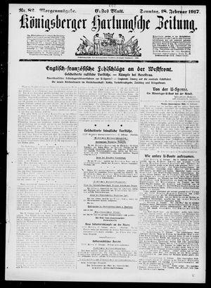 Königsberger Hartungsche Zeitung vom 18.02.1917