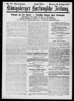 Königsberger Hartungsche Zeitung on Feb 19, 1917
