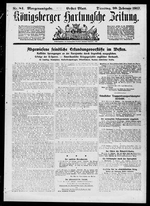 Königsberger Hartungsche Zeitung vom 20.02.1917