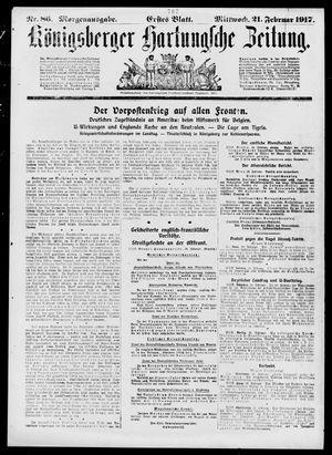 Königsberger Hartungsche Zeitung vom 21.02.1917