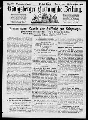 Königsberger Hartungsche Zeitung vom 22.02.1917