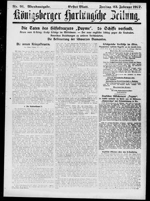 Königsberger Hartungsche Zeitung vom 23.02.1917