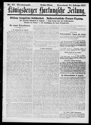 Königsberger Hartungsche Zeitung vom 24.02.1917