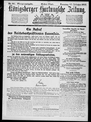 Königsberger Hartungsche Zeitung vom 25.02.1917