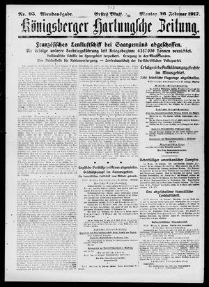 Königsberger Hartungsche Zeitung vom 26.02.1917