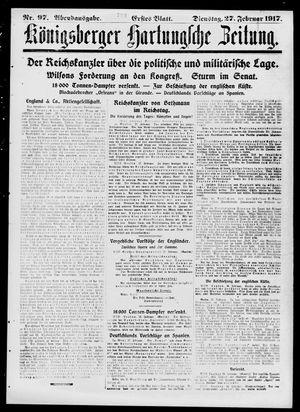Königsberger Hartungsche Zeitung vom 27.02.1917
