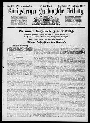 Königsberger Hartungsche Zeitung vom 28.02.1917