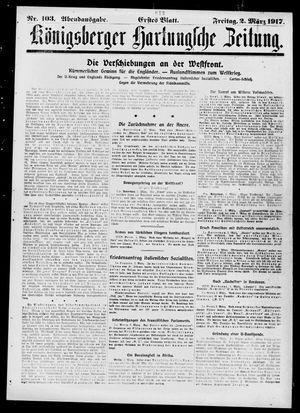 Königsberger Hartungsche Zeitung vom 02.03.1917