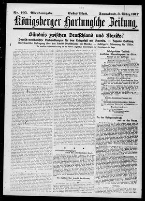 Königsberger Hartungsche Zeitung vom 03.03.1917