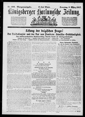 Königsberger Hartungsche Zeitung vom 04.03.1917