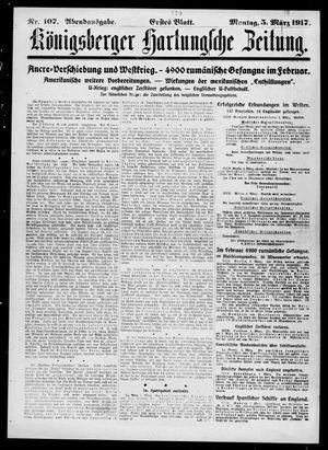 Königsberger Hartungsche Zeitung vom 05.03.1917
