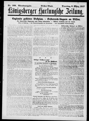 Königsberger Hartungsche Zeitung vom 06.03.1917