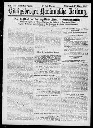 Königsberger Hartungsche Zeitung vom 07.03.1917