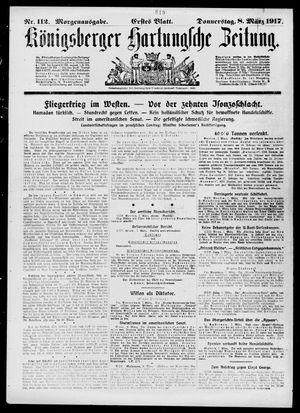 Königsberger Hartungsche Zeitung vom 08.03.1917