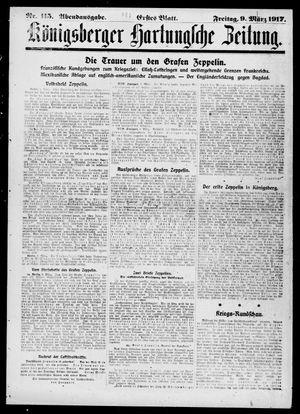 Königsberger Hartungsche Zeitung vom 09.03.1917