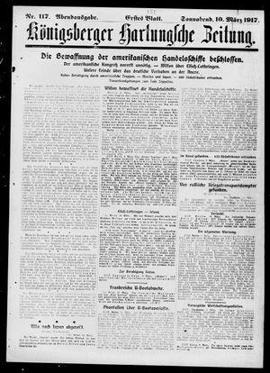 Königsberger Hartungsche Zeitung vom 10.03.1917