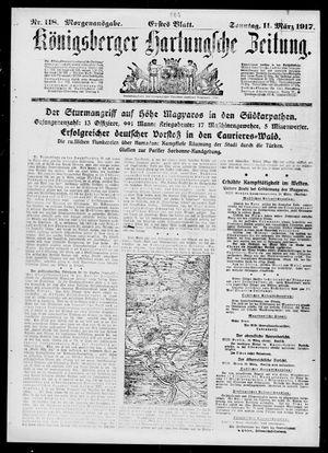 Königsberger Hartungsche Zeitung vom 11.03.1917