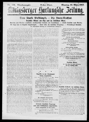 Königsberger Hartungsche Zeitung vom 12.03.1917