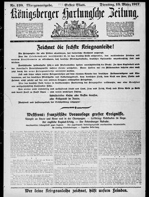 Königsberger Hartungsche Zeitung vom 13.03.1917