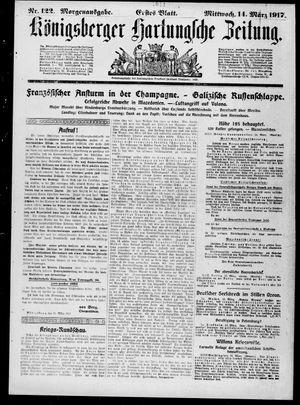 Königsberger Hartungsche Zeitung vom 14.03.1917