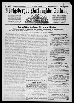 Königsberger Hartungsche Zeitung vom 17.03.1917