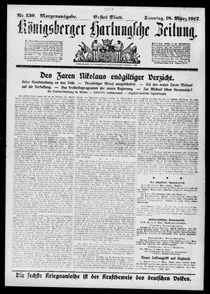 Königsberger Hartungsche Zeitung vom 18.03.1917