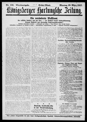 Königsberger Hartungsche Zeitung vom 19.03.1917
