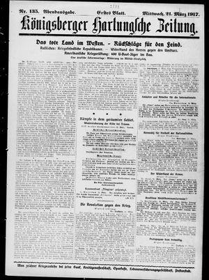 Königsberger Hartungsche Zeitung on Mar 21, 1917