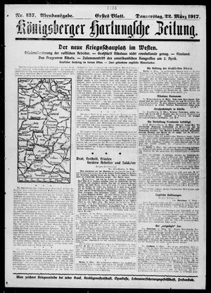 Königsberger Hartungsche Zeitung vom 22.03.1917